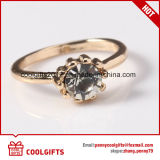 4pcs/Set chapado en oro 18k los anillos de boda con perla y Diamante Accesorios