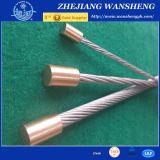 Collegare galvanizzato memoria d'acciaio 1X7, filo duro di DIN3052 Catinery dell'acciaio della fune metallica del filo 1X19