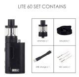 E 담배 기화기 시동기 상자 Jomotech 라이트 60 장비 60W Tc 상자 Mod Vape