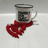 De promotie Kop van de Koffie van het Email van de Gift met de Mat van de Kop