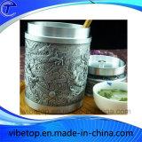 Изготовления Китая продают Caddy оптом зеленого чая металла