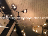 Светильник 2017 стеклянного глобуса канделябра типа Италии вися привесной для живущий украшения комнаты