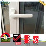 PVC/UPVC는 석쇠 디자인을%s 가진 슬라이딩 윈도우를 이중 유리를 끼웠다