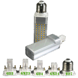 2000K/3000K/4000K/6000K G23/GX23/G24/GX24/E26/E27 5W LED Lámpara de tapón del G24