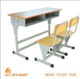 Mobília dobro ajustável da sala de aula da altura com alta qualidade