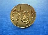 Pin del risvolto placcato oro d'ottone rotondo del distintivo del metallo (GZHY-CY-028)
