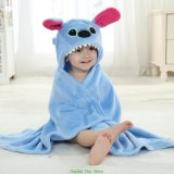 Happy Cherry Baby Cute Flannel Hoodie en fourrure en velours Robe de bain