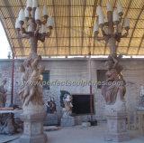 大理石の彫刻(SY-C1063)が付いている石造りのランタンの彫像を切り分ける庭