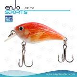 Angler Select Hard Bait Top de pesca de agua de cebo de manivela con Vmc ganchos agudos (CB1656)