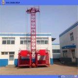 Elevación material de la jaula del levantador doble de la construcción (SS100/100)