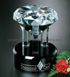 Trofeo de diamantes de cristal
