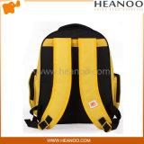 Водоустойчивый эргономический персонализированный желтый мешок Backpack мешков школы детей миньонов