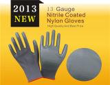 13 guanti del lavoro ricoperti nitrile variopinto del calibro