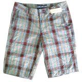 Playa Casual Plaid pantalones para hombres (CFJ019)