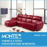 Sofá de canto de couro moderna sala de estar, sofá de mobiliário
