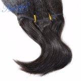 브라질 Virgin 머리 길쌈 처리되지 않은 비꼬인 똑바른 씨실 사람의 모발
