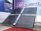 Da cor do aço coletor solar de câmara de ar de vácuo da pressão não