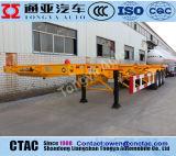 20FT en 40f de Aanhangwagen van de Container van de Lengte