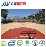 De houten Bevloering van de Speelplaats van de Sport van de Textuur voor de Binnen/OpenluchtVloer van het Basketbal