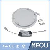 Montagem em superfície embutida OEM da Luz do painel de LED 18W 12W
