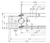 Rothe Erde Engrenagem externo dos rolamentos do anel giratório flangeado (231.21.0975.013)