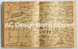 Arte di legno della parete di figura del libro dell'unità di elaborazione Leather/MDF del taccuino di matematica