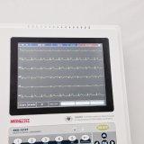 O eletrocardiograma Meditech 1212t portátil com teclado e ECG no ecrã táctil