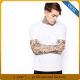 Maglietta in bianco normale del cotone su ordinazione degli uomini 100