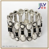 Alliage de zinc de gros de bijoux de mode d'argent antique PU/Bracelet Bangle