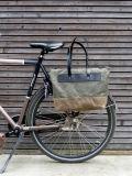 Sac de toile cirée Pannier vélo avec fermeture à glissière sac fourre-tout d'accessoires de vélo