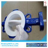 Roheisen-Karosserien-Antikorrosion-PTFE ausgekleidetes Drosselventil Wth pneumatisch in China Bct-F4pbfv-1