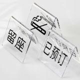 Het transparante Tweezijdige Teken van de Lijst van de V-vorm AcrylHouder Gereserveerde