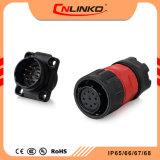 남여 배선 대검 연결관을 납땜하는 Cnlinko Ym20 9pins 수중 IP65/IP67 케이블