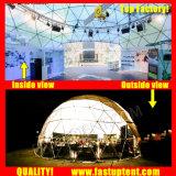 De duidelijke Transparante Witte Tent Fastup van de Koepel van de Luxe van pvc