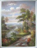 古典的な景色の油絵