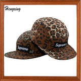 Chapéu feito sob encomenda do Snapback do painel do leopardo 5 da forma