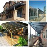 Из поликарбоната Auminium/PC для использования вне помещений навес / солнцезащитная шторка/ двери &окна навесы