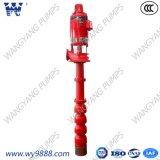 Pompa antincendio verticale sporta asta cilindrica lunga della turbina (materiale del ghisa)
