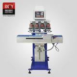 Machine van de Druk van het Stootkussen van het Metaal van seme-automatische Vier LEIDENE van de Kop van de Inkt van de Kleur de Verzegelende Tampo van de Bol Plastic