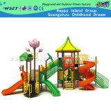 Поощрение игровая площадка оборудование для использования вне помещений детская площадка с Lotus Notes цветы (HC-10201)