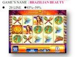 Braziliaan schoonheid-20 Line Het Gokken van de Machine van het Spel van de Machine van het Spel van de groef Muntstuk In werking gestelde Machine