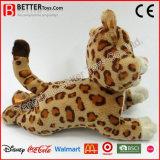 Giocattolo molle della peluche del leopardo dell'animale farcito En71 per il gioco dei capretti