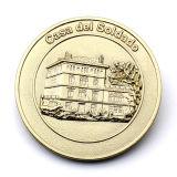 Finement transformés émail dur personnalisé Pièce de monnaie euro en métal de la mémoire
