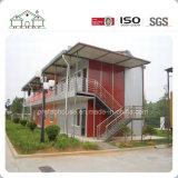 Casa de acero ligera como edificio modular prefabricado del hotel de lujo