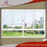 Extrusión de aluminio doble vidrio de ventana deslizante