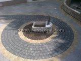 Naturelles pavés de granit gris foncé/Cube de pavage en pierre pour l'étage