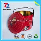 Panier rond du fer blanc deux pour le cadeau (diamètre : 285mm*175mm)