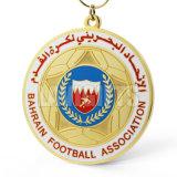 Médaille d'or de gagnant rond commémoratif bon marché fait sur commande hautement Polished de modèle