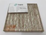 10mm der goldene Draht lamellierte verdrahtetes dekoratives Glas (PLW-TP)