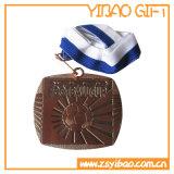 締縄(ybgg55)とのさまざまな形そしてカラーのカスタム3D金属メダル/Medallion
